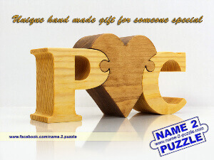 name puzzle with initials
